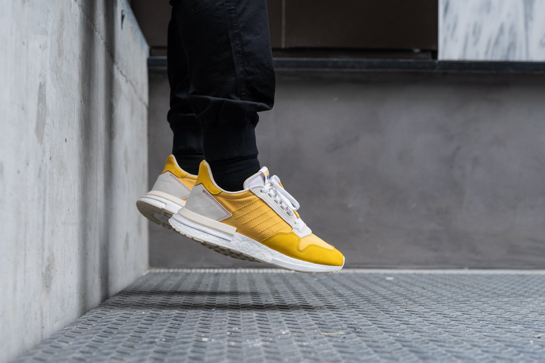 Adidas Originals ZX 500 RM yellow sneakers