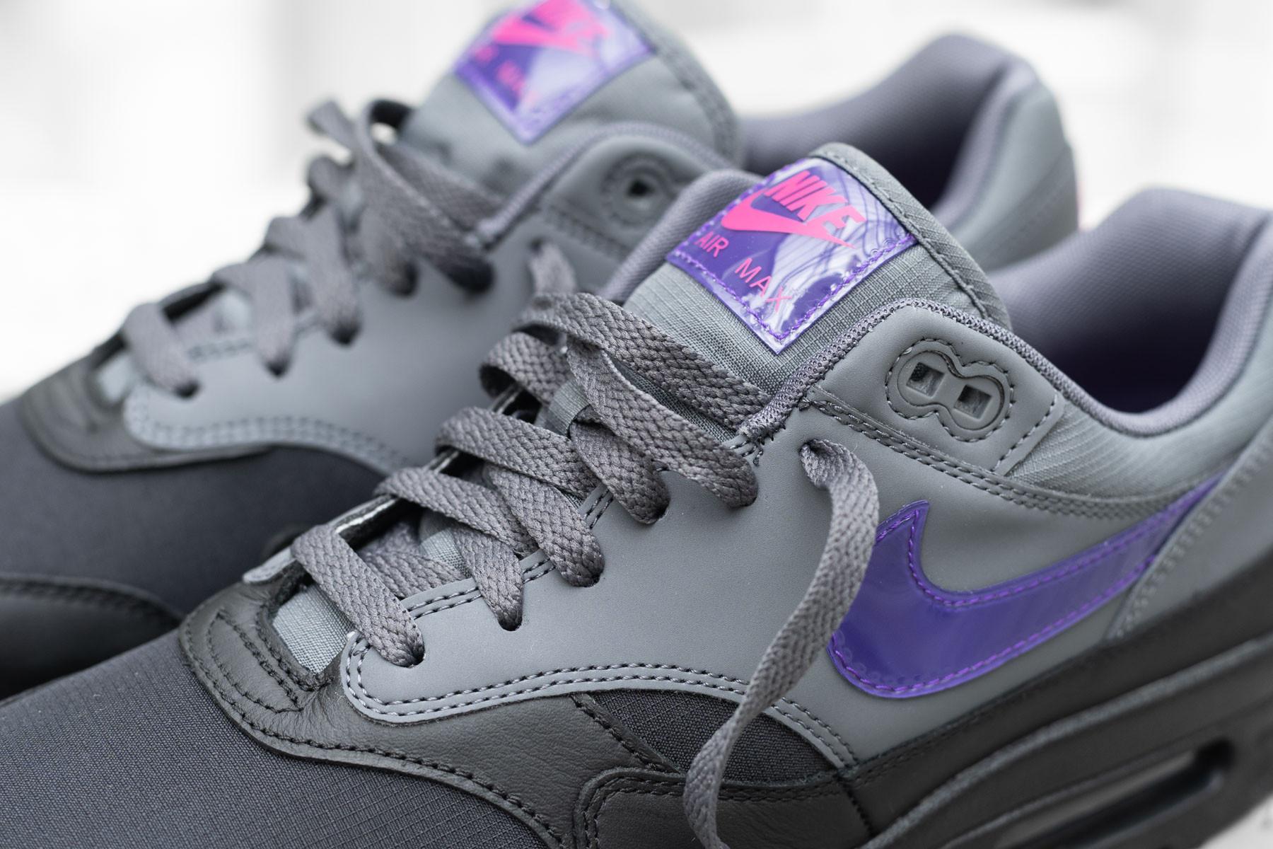 Nike Air Max 1 Black Grey Purple Pink