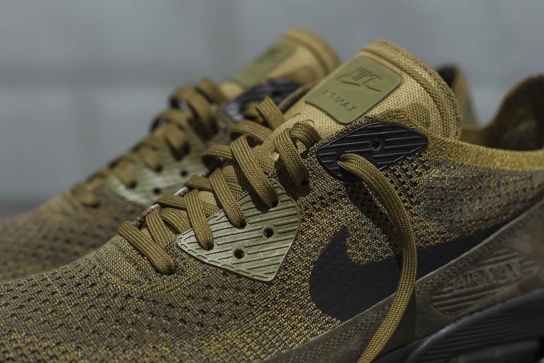 2eec020592 ... Flyknit Lifestyle Olive FlakCargo Khaki Black; Nike Air Max 90 Ultra 2.0  FK - Sneaker.no ...