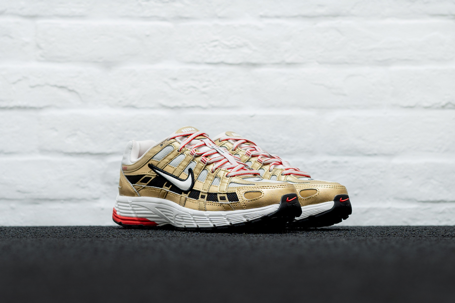 Nike P 6000 White Gold Red (W)