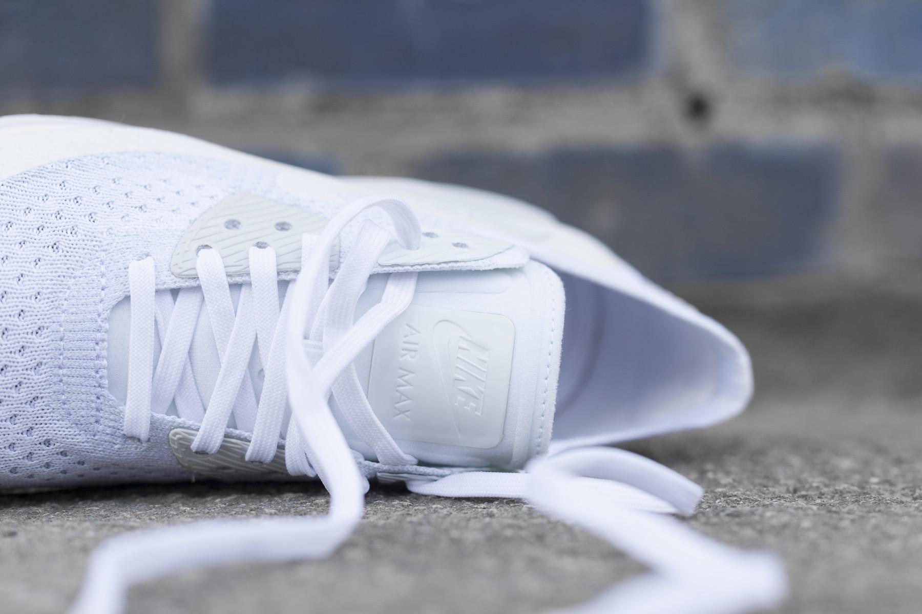 Nike AIR MAX 90 ULTRA 2.0 FLYKNIT WhiteWhitePlatinum
