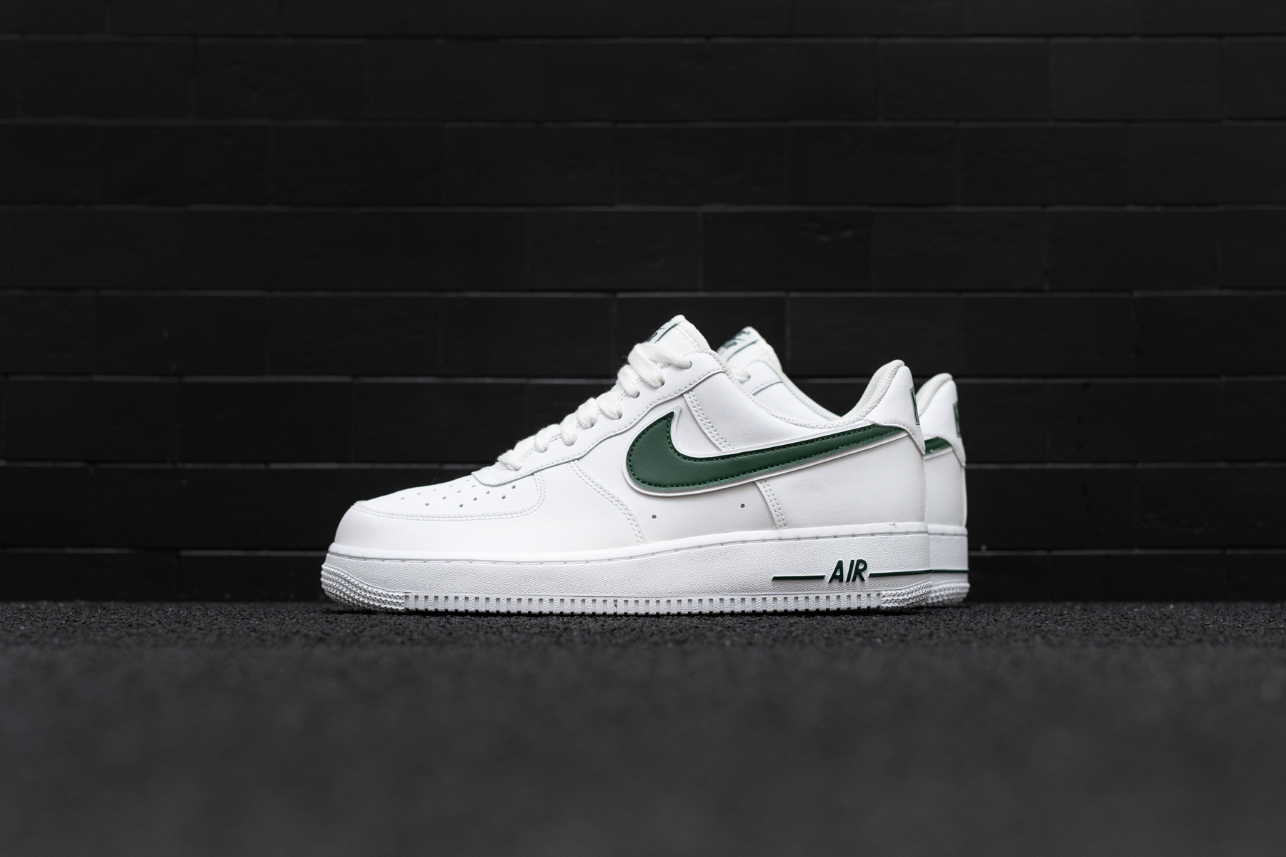Newest Nike Air Force 1 Low 07 QS All Over Logo Black White